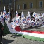 giovani a Roma contro il federalismo della Lega